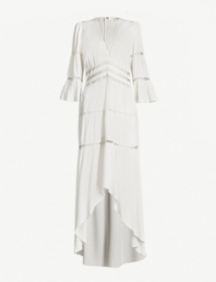 BA&SH Zabel crochet-trim crepe maxi dress