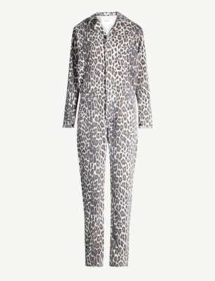 BA&SH Madison leopard-print cotton jumpsuit