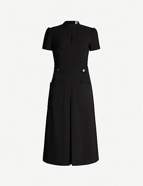 BA&SH Coleen stretch-woven midi dress