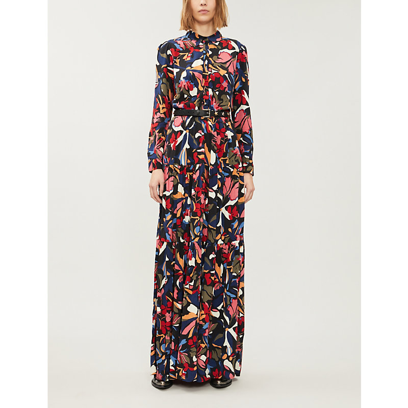 Ba&sh Dresses GRAPHIC-PRINT CREPE MAXI DRESS