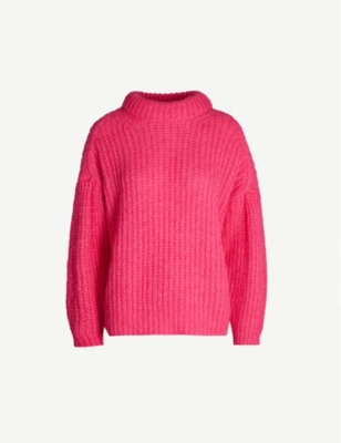 Emma chunky-knit alpaca-blend jumper - Rose
