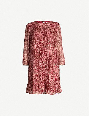 BA&SH Grace chiffon mini dress