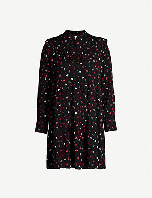 BA&SH Liv floral-print crepe mini dress