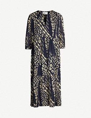 BA&SH Orson crepe midi dress