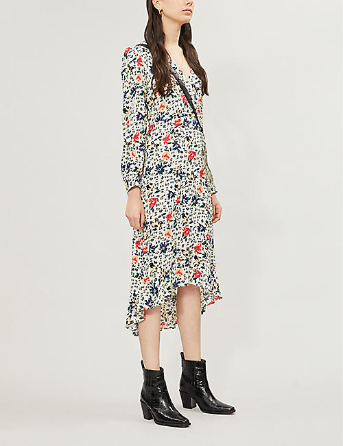 BA&SH Paloma floral-print crepe dress