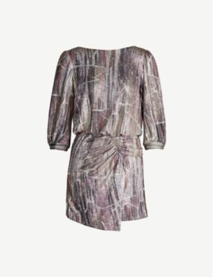 Salina metallic-pattern stretch-jersey mini dress - Multico