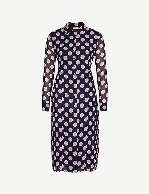 ab5a388ee12 KITRI Lotta polka dot crepe shirt dress