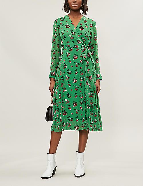 6fa3b77117 KITRI Jody pleated woven midi dress