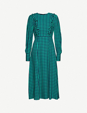 KITRI Gina checked woven midi dress