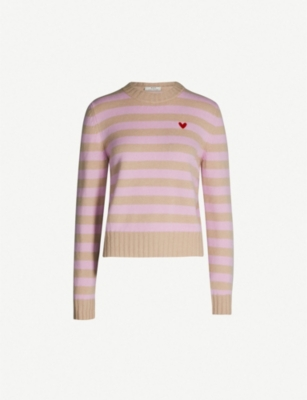 RIKA BY ULRIKA LUNDGREN Josh striped wool and cashmere-blend jumper