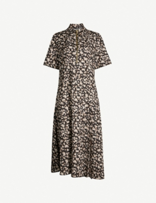 RIKA BY ULRIKA LUNDGREN River floral-print stretch-crepe midi dress