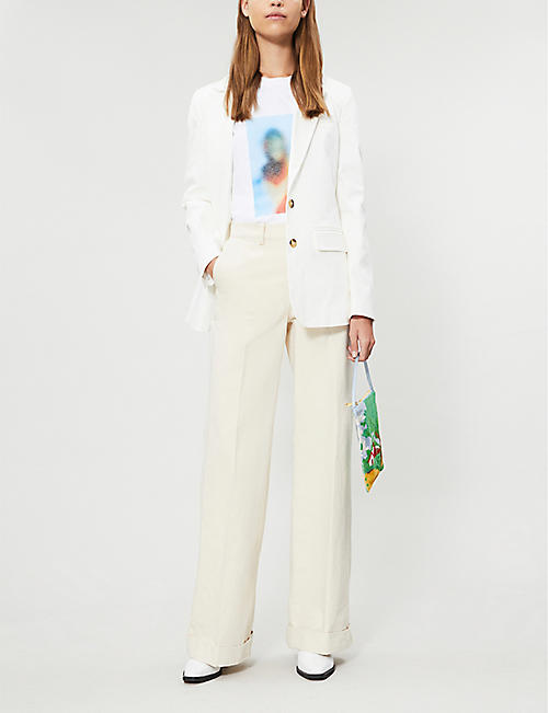 RIKA BY ULRIKA LUNDGREN Single-breasted stretch-cotton blazer