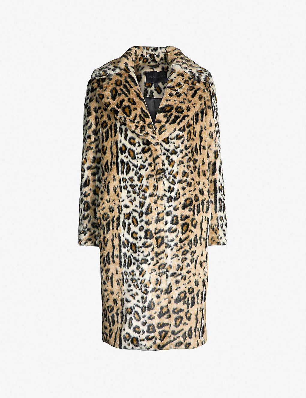 1b2aa7f3fa99 KENDALL & KYLIE - Leopard-print faux-fur coat | Selfridges.com