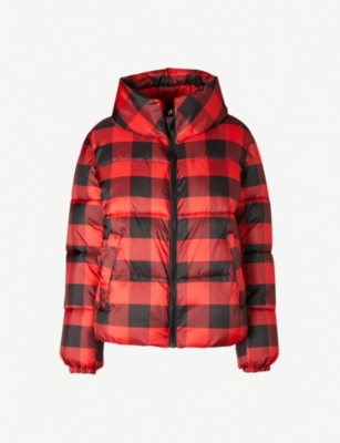 KENDALL & KYLIE Checked shell puffer jacket