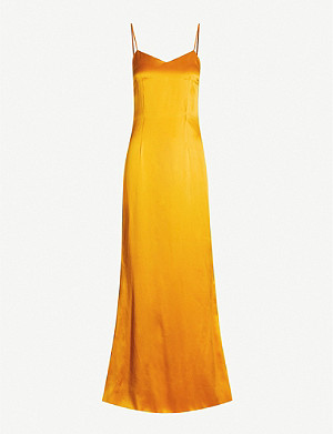 DE LA VALI Pepe silk-satin maxi dress