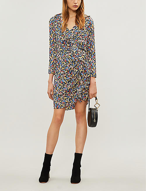 VERONICA BEARD Minna floral-print stretch-silk mini dress