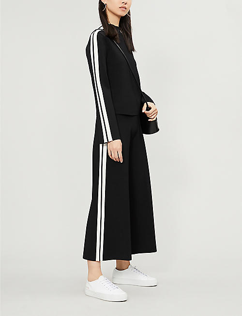 VERONICA BEARD Retha side-stripe woven jumper