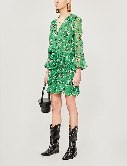 VERONICA BEARD Sean floral-print silk dress