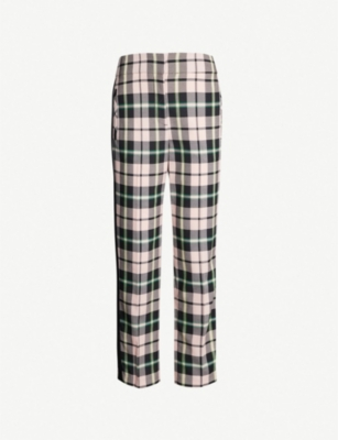 VERONICA BEARD Gemini checked woven trousers