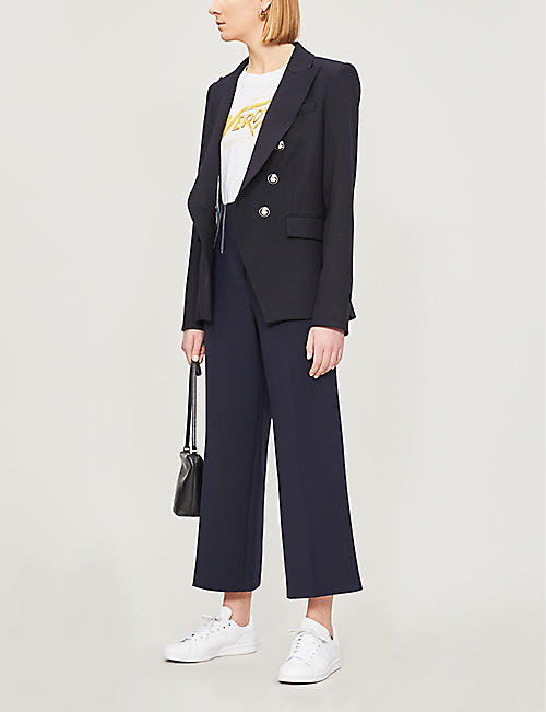 VERONICA BEARD Micah wide cropped woven culottes