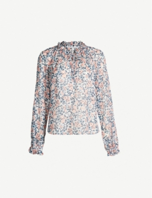 VERONICA BEARD Antonette floral-print silk top