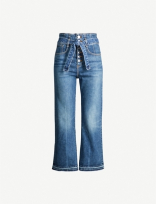 VERONICA BEARD Marlene wide cropped high-rise jeans