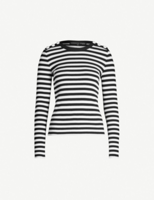 VERONICA BEARD Mayer striped stretch-cotton jumper