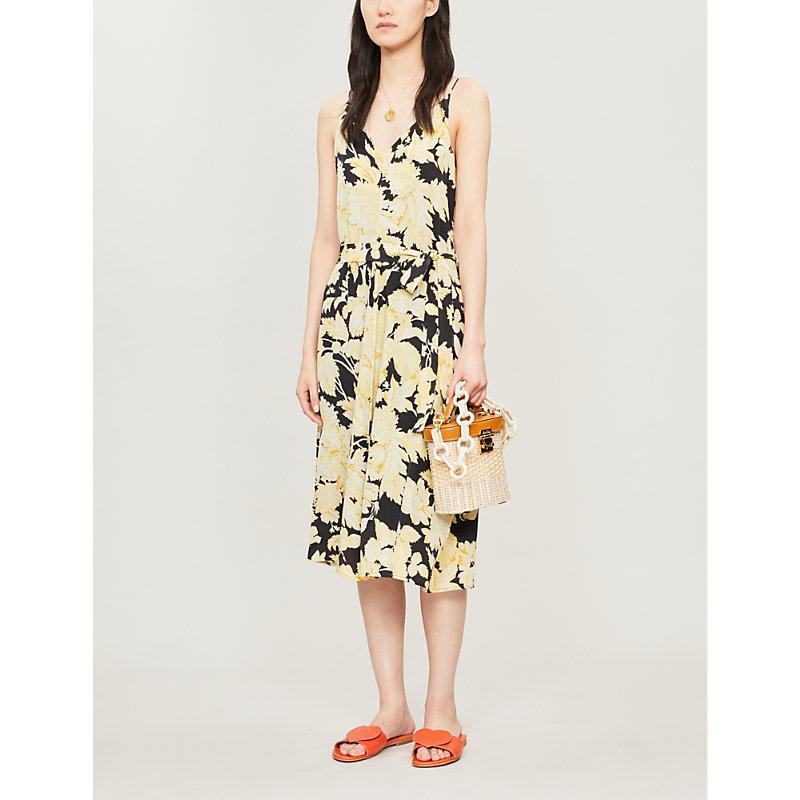 Stine Goya Dresses GIANNA FLORAL-PRINT WAIST-TIE SILK-CREPE DRESS
