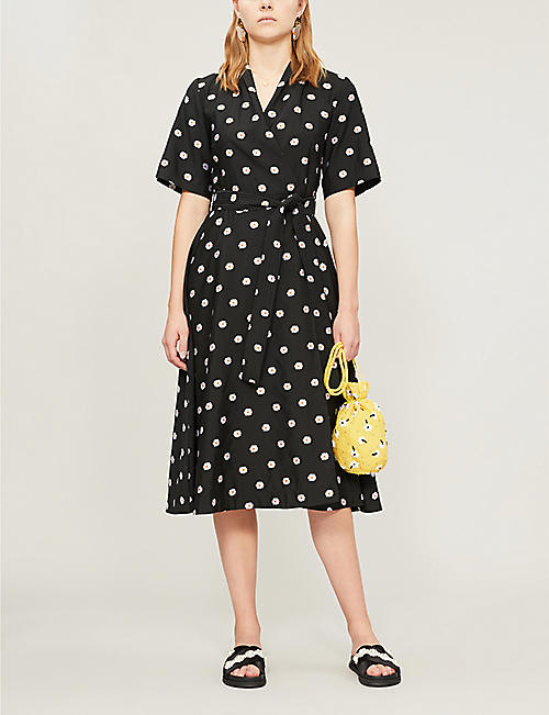 STINE GOYA Kylie floral-print jacquard wrap dress