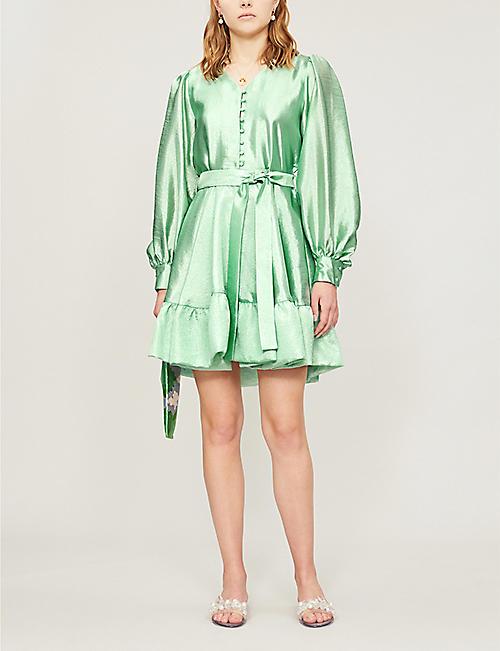 fd662d91139 STINE GOYA Farrow metallic satin mini dress