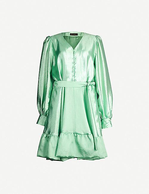 1ecf20d786 STINE GOYA Farrow metallic satin mini dress