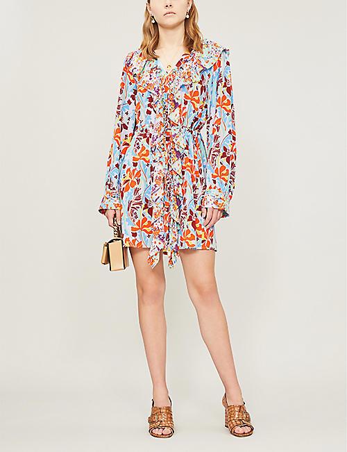 a7a6896665c STINE GOYA Skylar daffodil-print silk-crepe dress