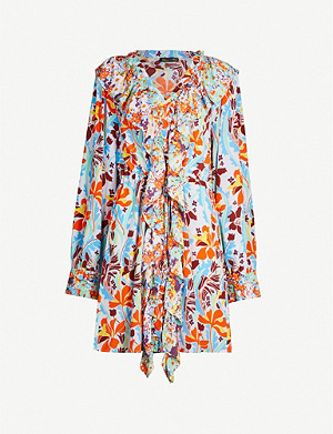 STINE GOYA Skylar daffodil-print silk-crepe dress