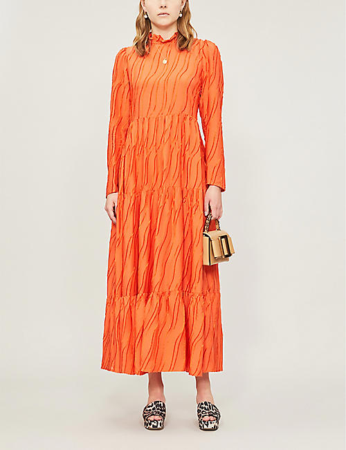 STINE GOYA Judy frilled-collar woven dress