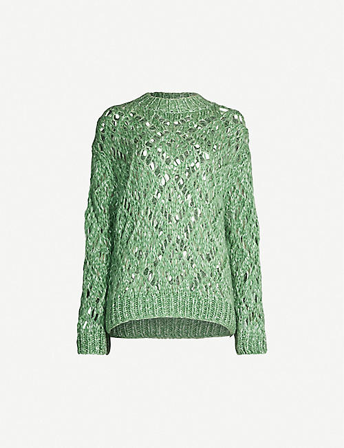 STINE GOYA Alex round-neck knitted top