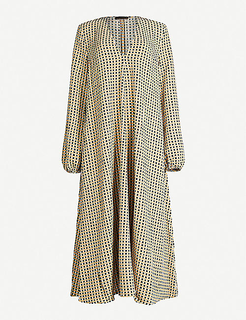 STINE GOYA Brooklyn gingham-print oversized stretch-crepe midi dress