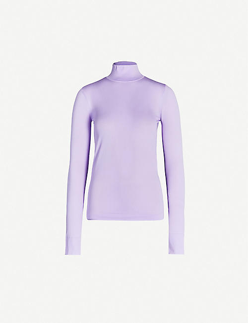 LES REVERIES Turtleneck stretch-jersey top