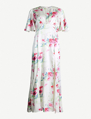 LES REVERIES Floral-print silk maxi dress