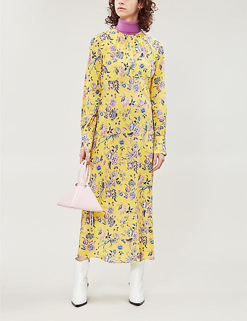 bac45a7d2e947 LES REVERIES Floral-print silk-crepe de chine dress