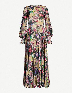 ROTATE BIRGER CHRISTENSEN Floral-print chiffon maxi dress