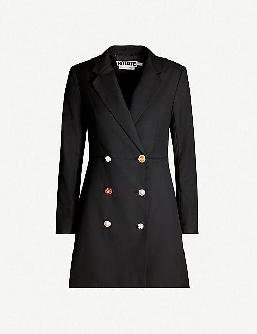 ROTATE BIRGER CHRISTENSEN Double-breasted crepe mini blazer dress