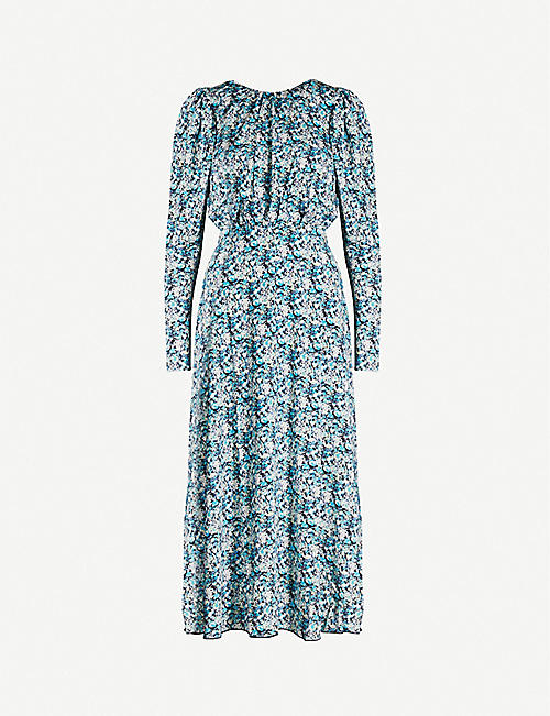 ROTATE BIRGER CHRISTENSEN Floral-print stretch-jersey midi dress