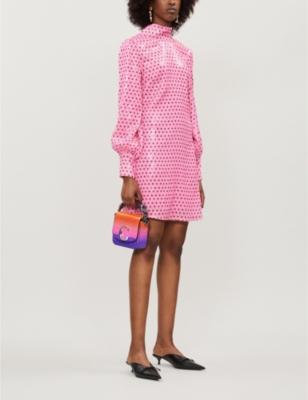 Melissa Polka Dot Pattern Sequinned Mini Dress by Olivia Rubin