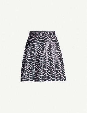 OLIVIA RUBIN Libby high-waist sequinned mini skirt