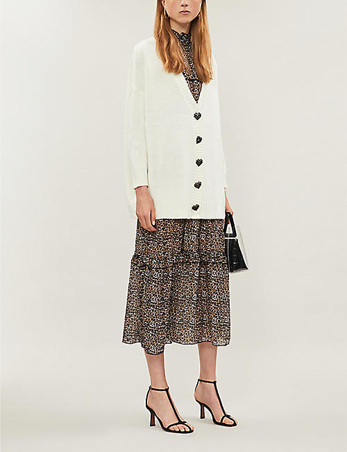 OLIVIA RUBIN Mika buttoned-down knitted cardigan