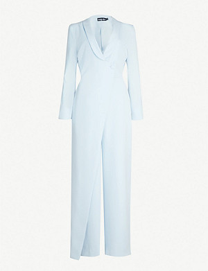 LAVISH ALICE Tailored wrap crepe jumpsuit