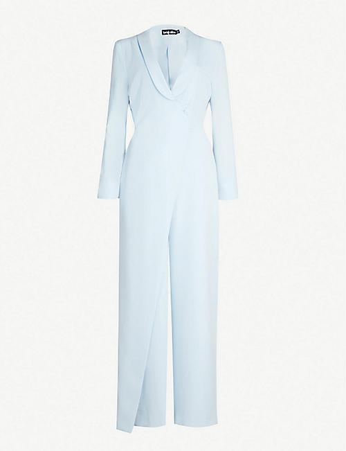 4eff54ad2746 LAVISH ALICE Tailored wrap crepe jumpsuit