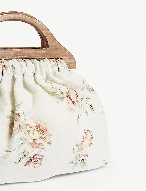 LOVESHACKFANCY McKenna linen top-handle bag
