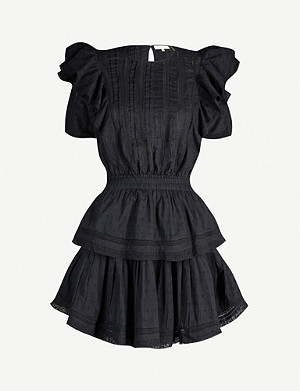 LOVESHACKFANCY Natasha ruffled cotton mini dress