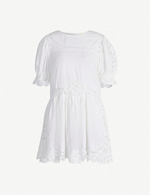 LOVESHACKFANCY Julie cotton mini dress
